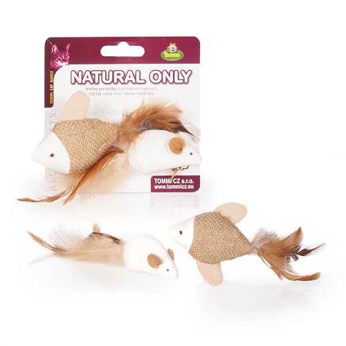 03139 Natural Only - fish & mouse /card