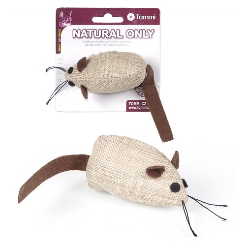 03136 Natural mouse for cats - light brown with brown catnip