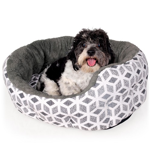 01045 Pet´s Bed Cubic grey