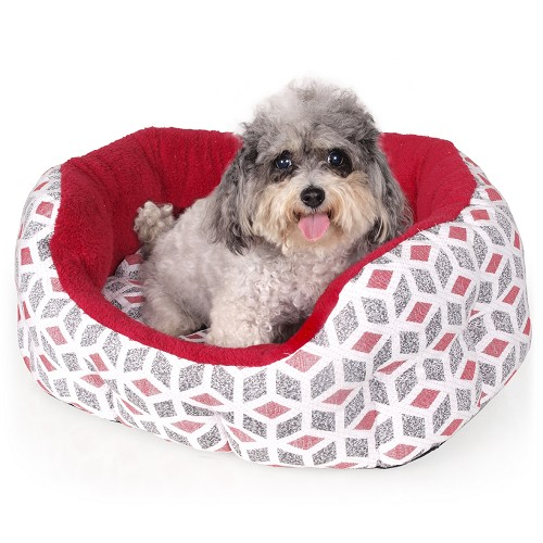 01046 Pet´s Bed Cubic red
