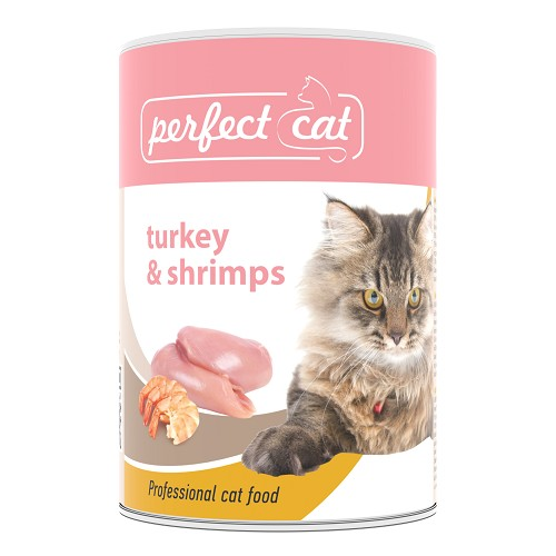 090314 Perfect Cat Turkey & Shrimps 400g/6