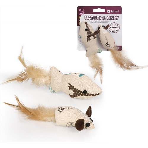 03131 Natural Only CATNIP mouse & fish /card