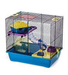 063122 Cage GINO I COLOR + plastic tube / G104C