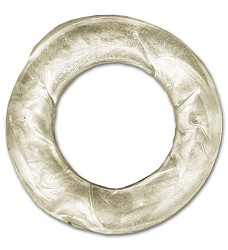 00236 Rawhide ring white 7,5cm/50pcs