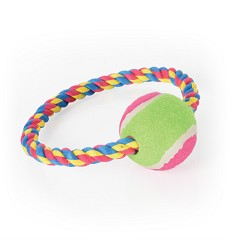01618 Cotton ring with tennis ball