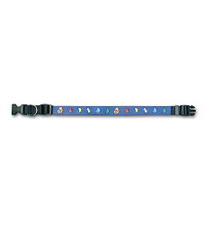 02001 Collar Ethnic blue S 35-50cm