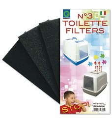 03227 Filter for WC Vicky 1pack (3pcs/pack)