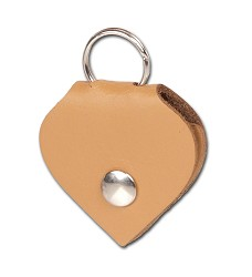 01223 Leather address pocket - heart