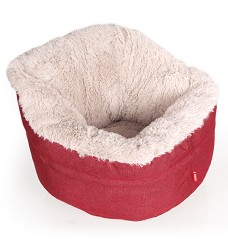 01049 Pet´s Bed Muffy red/beige