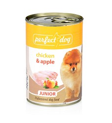 090301 Perfect Dog Junior Chicken & Apple 400g/6