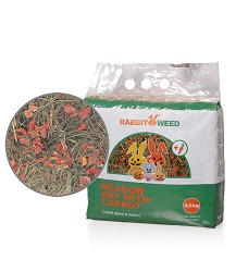 06264 Rabbit Weed meadow hay with carrot 0,6kg/4pcs/324