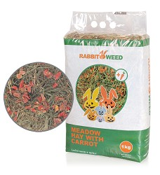 06264-1 Rabbit Weed meadow hay with carrot 1kg/4pcs/192