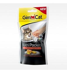 03352 GimCat Nutri Pockets salmon & omega 3 60g/12