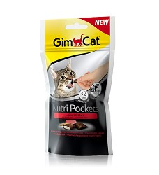 03354 GimCat Nutri Pockets beef & malt-soft paste 60g/12