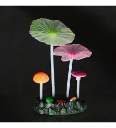 04756 Aqua LUMO Multi-Coloured Mushroom Lotus Plant