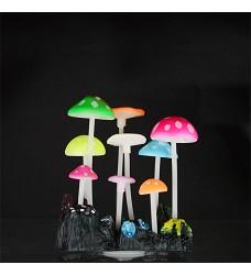 04757 Aqua LUMO Multi-Coloured Mushroom Plant