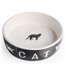 01708 Porcelain bowl with cat 13,5 cm