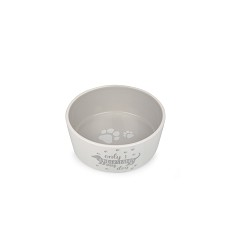 017344 Ceramic Bowl for Dogs white/grey with dachshund 18,3cm