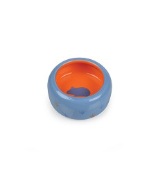 017364 Ceramic Bowl for Rodents blue/orange, paw