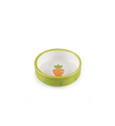 017366 Ceramic bowl for hamsters green/white, carrot