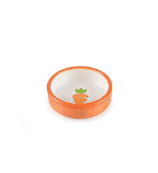 017367 Ceramic Bowl for Hamsters orange/white, carrot