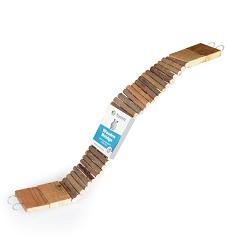 06165 Wooden bridge for rodents, long, 7x60cm (little logs)