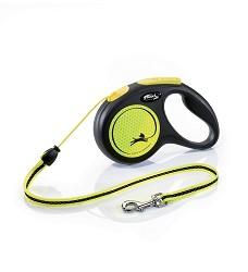 02807-13 flexi New Neon M Cord 5m/20kg yellow