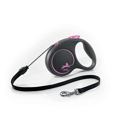 02804-33 flexi Black Design M Cord 5m/20kg pink
