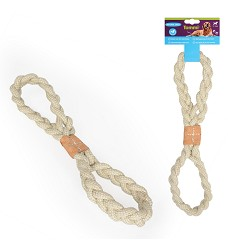 016602 Tug Toy – 8-shaped with Leather Patch