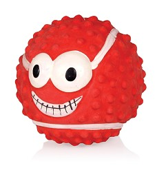 015964 Latex Smiley Rugby Ball RED