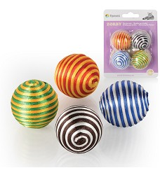 03191 Balls Zorby rainbow colour /4pcs blister