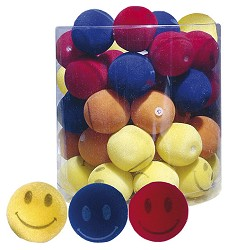 03161 Suede balls, mix of colours 4cm/48pcs in tube