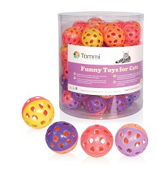 03163 Balls Jingle, two-colour 4cm/60pcs in tube