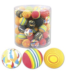 03155 Sponge rainbow balls 4cm - mix of colours/60pcs in tube