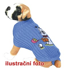 013894 POLAR 20 cm Dog jumper with embroidery blue