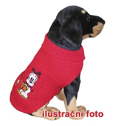013946 POLAR 45 cm Dog jumper with embroidery red